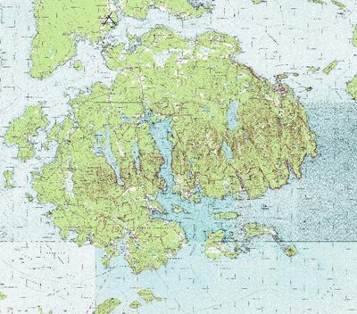 Topo Map Of Maine.Acadia National Park Mt Desert Island Maine Garmin Compatible Map