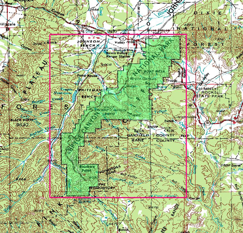 Bryce Canyon National Park Garmin Compatible Map   GPSFileDepot
